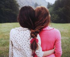 True Friendship is forever. I love this photo because my best friend is a redhead. I'm a brunette. ""