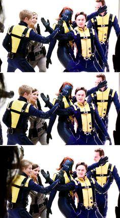 X Men: First Class. James' face ahahaahah
