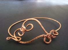 Hammered 'copper heart' bangle by OKCCreations on Etsy, £10.00