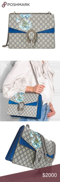 75a0b232fcf Medium Gucci Bloom Dionysus In excellent condition with beautiful blue  suede. It s fabulous with denim
