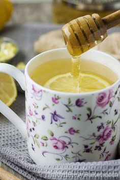 Fresh lemon ginger tea is delicious and good for you! It's a great way to stay warm this season and helps you fight off those winter sniffles too. Plus, it's quick and easy to make! Three steps is all it takes. Make some today!