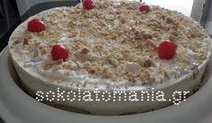 Πανεύκολη, απίθανη Τούρτα-παγωτό με αμύγδαλο από το sokolatomania.gr! Tiramisu, Cake, Ethnic Recipes, Desserts, Food, Tailgate Desserts, Deserts, Kuchen, Essen