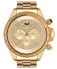 Vestal Watch, Men's Chronograph Gold-Tone Stainless Steel Bracelet