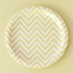 "Chevron Yellow 9"" Plates http://www.partyandco.com.au/products/chevron-yellow-9-plate.html"