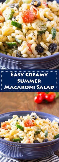 Easy Creamy Summer Macaroni Salad Recipe