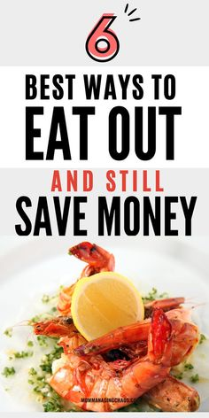 In this post I'll share with you 6 Best Ways to Save Money When Eating Out so you can master Frugal living. Curious to know how you can eat out anywhere for cheap? Then head over to the blog to read this post. Don't forget to save it to your board on frugal ideas or ways to save money. Cheap Living | Thrifty Living | Living Frugal Ideas | Extreme Frugal Living | Frugal Lifestyle