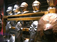 https://flic.kr/p/Dap1d | Shields and Helmets | Some of the armour in The Tower of London museum