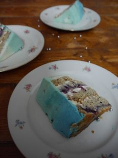 Blaues Ombre-Törtchen