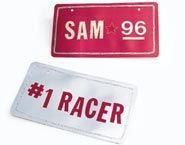 Designing flashy personalized license plates is a great activity for slowing down the party pace after a round of spirited racing.