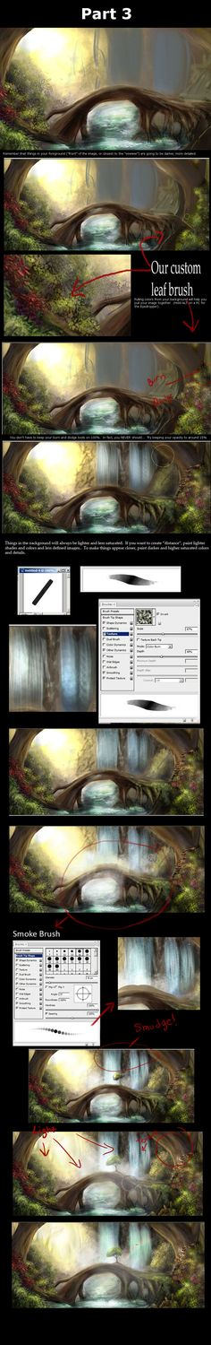 Forest Tutorial Part 3............. by:  *Lunar-lce*..... from the art of Disney, Pixar, Studio Ghibli.....