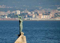 La Sirenita de Cangas de Morrazo. Teresa Portela no ha conseguido medalla pero sus 5 diplomas tras participar en 5 Juegos Olímpicos diferentes merecen que también pongamos una foto dedicada a ella