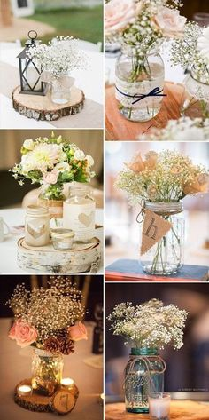 51 Ideas for vintage wedding table centerpieces decor - Decoration Home Trendy Wedding, Diy Wedding, Rustic Wedding, Wedding Flowers, Dream Wedding, Wedding Vintage, Wedding Ideas, Vintage Weddings, Wedding Simple