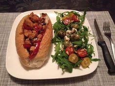 Lunch // Recept: broodje hete kip // Womanistical.nl // Dec 22 2014