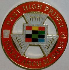 Royal Arch Masons Past High Priest Cut Out Car Emblem Part CE 95   eBay