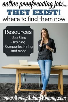Online Proofreading Jobs - They Exist, Get Hired as a Proofreader Work From Home Moms, Make Money From Home, Make Money Online, How To Make Money, How To Become, Money Today, Companies Hiring, Home Based Jobs, Freelance Writing Jobs