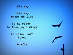 This Sky. This sky where we live is no place to lose your wings, so love, love, love. Best Quotes, Love Quotes, Inspirational Quotes, Daily Quotes, Sky Quotes, Light Quotes, Favorite Quotes, The Words, So Love