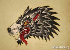 Neo Traditional Tattoos Wolf Head | wolfhead - Tattoo Artists.org