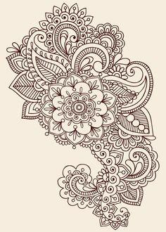 Paisley henna tattoo design background?: Tatuaje De Diseño De Henna ...