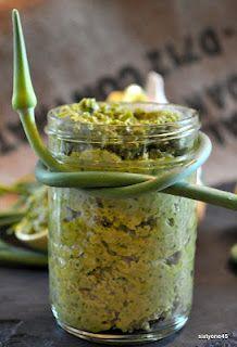 Vegan Garlic Scape Pesto
