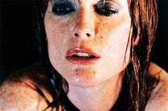 Julianne Moore shot by Marilyn Minter (2008)