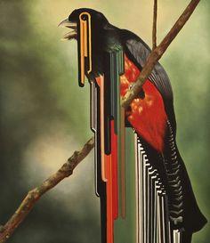 Bird rib_2010_60x70cm_oil on canvas by Bongiovanni, via Flickr