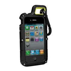 Super durable screw-on iPhone 4/4s case with carabiner loop and screen shield. Pretty much the ultimate case for taking your phone into the wild.