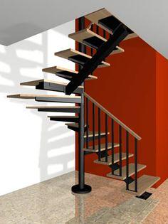 Escaleras económicas y fáciles de instalar con peldaños de madera, cristal, acrílico, mosaico se les entrega un vídeo y manual de instrucciones