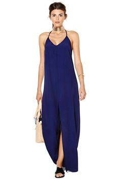 nasty gal islander maxi dress