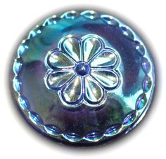 Button / Glass / Black / Rare Aurora Luster / Moonglow Vintage - Small by KPHoppe on Etsy