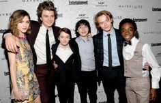 Charlie Heaton, Joe Keery, Noah Schnapp, Finn Wolfhard, Caleb McLaughlin and Natalia Dyer attend the Entertainment Weekly Celebration of SAG Award Nominees sponsored by Maybelline New York at Chateau Marmont on January 28, 2017 in Los Angeles, California.