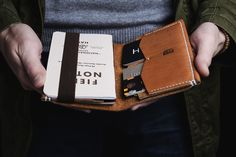 Handmade leather wallets from Vladimir Kovalev on Etsy