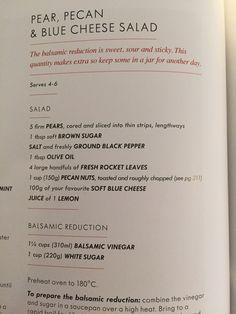 Blue Cheese Salad, Balsamic Reduction, Pecan, Brown Sugar, Salad Recipes, Jar, Sweet, How To Make, Candy