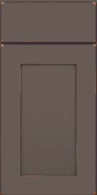 Square Recessed Panel - Solid (DRHC) Cherry in Vintage Greyloft - Base