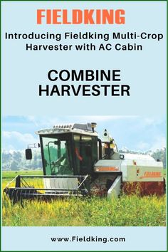 Fieldking Multi-Crop Harvester with AC Cabin is one of the most innovative #Harvester for harvesting multiple types of crops and is now more comfortable and suitable for #wetlands and in harvesting paddy along with wheat, barley, soyabean, corn etc. #CombineHarvester #harvesterprice #harvestermachine #combineharvestermachine #harvestermachineprice #combineharvesterprice Harvest Corn, Agriculture Machine, Combine Harvester, Cabins For Sale, Tractors