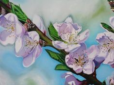 Peach Tree Blossoms, 30 x 40 inch acrylic on canvas by Sara Bardin (scheduled via http://www.tailwindapp.com?utm_source=pinterest&utm_medium=twpin&utm_content=post27400668&utm_campaign=scheduler_attribution)