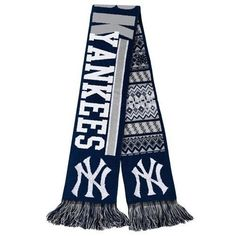 New York Yankees 2015 Team Logo Reversible Ugly Holiday Scarf