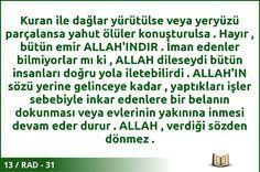 #ALLAH #KURAN #RAD  13 / RAD - 31