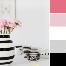 Color Love   Black, White & Pink