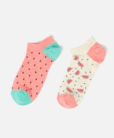 Pack of water melon pattern socks - OYSHO