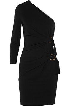 ROBERTO CAVALLI One-Shoulder Stretch-Jersey Mini Dress. #robertocavalli #cloth #dresses