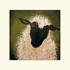 Etsy Original Art | Abstract Sheep Painting Original Art via Etsy | Sheep-Lambs