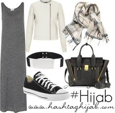Hashtag Hijab Outfit I I love converse:) Hijab Casual, Hijab Chic, Hijab Outfit, Hijab Elegante, Hijab Dress, Hijab Fashion 2016, Trend Fashion, Modest Fashion, Fashion Outfits
