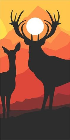 Deer Buck in Mountains Hunting Cornhole Game Decal Wrap | eBay