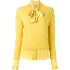 P.A.R.O.S.H. Stelline Sweater ($461) ❤ liked on Polyvore featuring tops, sweaters, yellow top, yellow sweater and p.a.r.o.s.h.