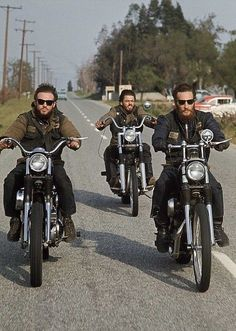 Something old: Groups of three, let them be. Hells Angels.