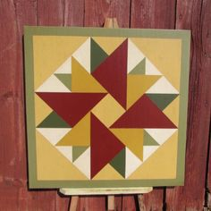 Items similar to PriMiTiVe Hand-Painted Barn Quilt - Unframed on Etsy Barn Quilt Designs, Barn Quilt Patterns, Quilting Designs, Quilting Tips, Barn Quilts For Sale, Barn Signs, 12 Signs, Painted Barn Quilts, Barn Art