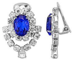 Würde man den Ozean in einem Kristall einfangen, kämen diese prachtvollen Ohrclips dabei heraus. #Schmuck #Ohrclips #Blau