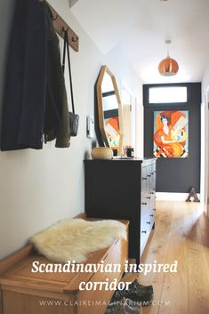 Bringing the Scandinavian style to a London house. Source Of Inspiration, Interior Inspiration, Mid-century Modern, Contemporary, London House, Entrance Hall, Corridor, Scandinavian Style, Claire