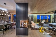 Luxury chalet with an individual contemporary style. Great facilities including a Jacuzzi, Hamman, cinema room and gym. Part of the Firefly Collection. France Photos, Cinema Room, Ski Chalet, Jacuzzi, Contemporary Style, Skiing, Courchevel, Architecture, Luxury