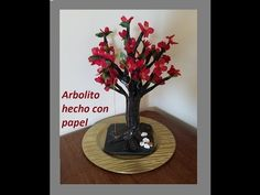 arbol de papel/tree made from recycled magazine - YouTube